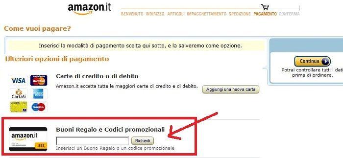 Codici promozionali Amazon