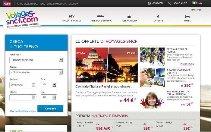 Sconto Voyages SNFC