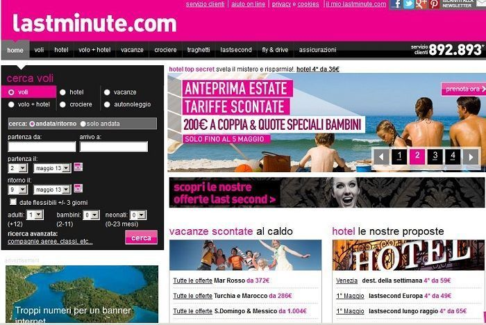 sconto lastminute.it